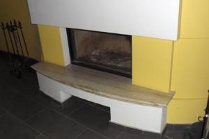 Mramorový obklad na krb Breccia Sarda Kamenárstvo STONESTORE Smolenice