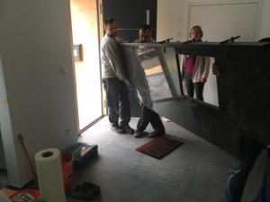 STONESTORE Montage Kuchenplatte Steel Grey